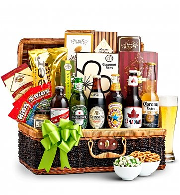 Wine Baskets: Craft Beer and Snacks Basket