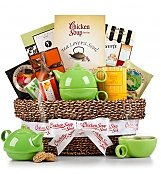 -CSFTS: Traditional Tea Time Basket with Chicken Soup for the Tea Lover's Soul®