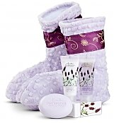 Spa Gift Baskets: Spa Booties with Lavender Aromatherapy