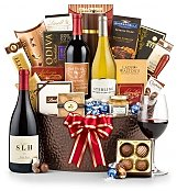 Luxury Wine Baskets: Best Wishes Wine Gift Basket