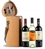 Luxury Wine Baskets: Wine Trio Travel Tote