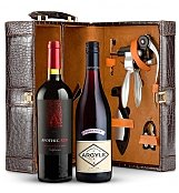 Wine Baskets: Deluxe Dual Wine Tote