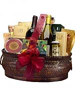 Wine & Gourmet: Deluxe Wine and Gourmet Basket